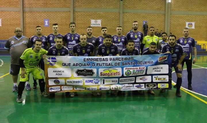 Santa Helena estreia domingo na terceira fase da Taça Bronze de Futsal